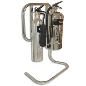 Chrome-Finish-Tubular-Extinguisher-Stand-Double