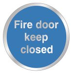Chrome-Fire-Door-Closed-Sign