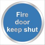 Chrome-Fire-Door-Shut-Sign