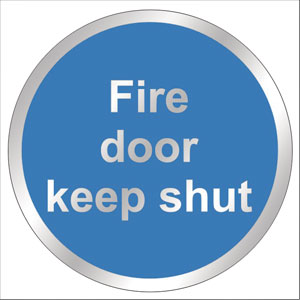 Chrome-Fire-Door-Shut-Sign