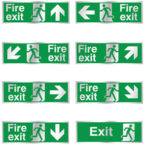 Chrome-Fire-Exit-Signs