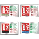 Chrome-Fire-Extinguisher-Identification-Signs
