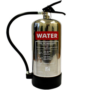 Chrome-Water-Extinguisher