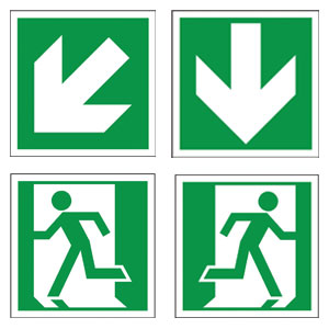 Directional Escape Route Signage